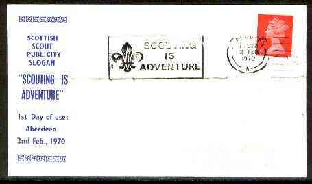 Great Britain 1970 Commemorative cover for Scottish Scout Publicity with 'Scouting is Adventure' cancel