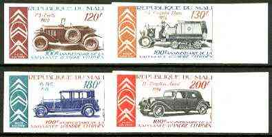 Mali 1978 Birth Centenary of Andre Citroen (Automobile Pioneer) set of 4 imperf from limited printing unmounted mint, as SG 637-40 (gutter pairs available price x 2)