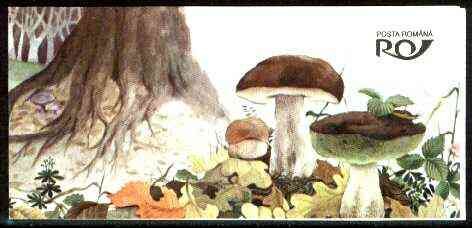 Booklet - Rumania 1994 Edible and Poisonous Fungi booklet containing two m/sheets, unused and pristine