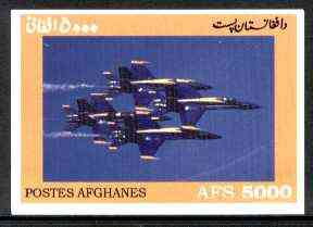 Afghanistan 1999 Modern Jets imperf m/sheet unmounted mint