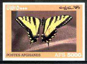 Afghanistan 1999 Butterflies #1 imperf m/sheet unmounted mint