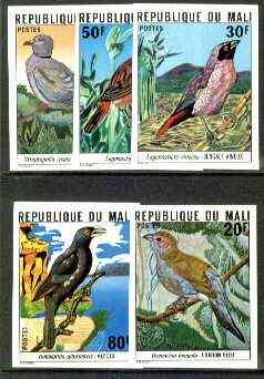 Mali 1978 Birds set of 5, imperf from limited printing unmounted mint as SG 632-36