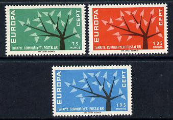Turkey 1962 Europa set of 3 unmounted mint (SG 1983-85)