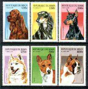 Benin 1997 Dogs complete perf set of 6 unmounted mint, SG 1490-95*