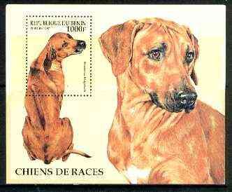Benin 1997 Dogs (Ridgeback) perf m/sheet unmounted mint, SG MS 1496