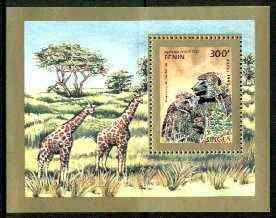 Benin 1995 Primates (Apes & Giraffes) perf m/sheet unmounted mint, SG MS 1297