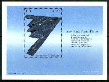 Palau 1996 Northrop B-2A Stealth Bomber perf m/sheet unmounted mint, SG MS 1097
