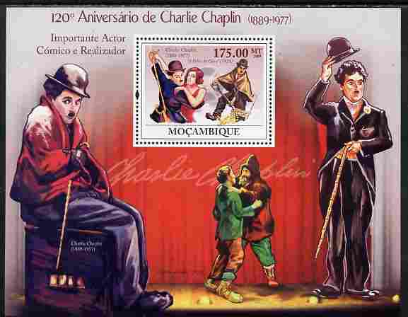 Mozambique 2009 120th Anniversary of Charlie Chaplin perf s/sheet unmounted mint