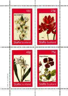 Staffa 1982 Flowers #33 (Star of Bethlehem, Ixia, Babiana & Virgin's Bower) perf set of 4 values unmounted mint