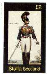 Staffa 1982 French Revolution Costumes #03 imperf deluxe sheet (�2 value, Garde Royale) unmounted mint