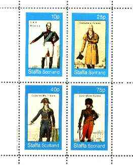 Staffa 1982 French Revolution Costumes #04 perf sheet containing set of 4 values unmounted mint