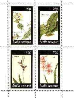 Staffa 1982 Flowers #35 (Honey Suckle, Melanthium, Babiana & Ixia) perf set of 4 values unmounted mint