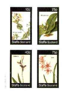 Staffa 1982 Flowers #35 (Honey Suckle, Melanthium, Babiana & Ixia) imperf set of 4 values unmounted mint