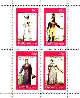 Staffa 1982 French Revolution Costumes #05 perf sheet containing set of 4 values unmounted mint