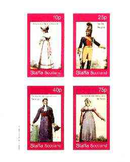 Staffa 1982 French Revolution Costumes #05 imperf sheet containing set of 4 values unmounted mint