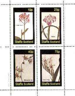 Staffa 1982 Flowers #36 (Epidendrum, Morea, Melaspherula & Corn Flag) perf set of 4 values unmounted mint