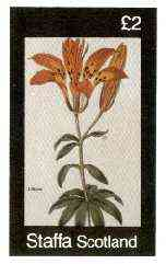 Staffa 1982 Flowers #37 (Lilium) imperf deluxe sheet (�2 value) unmounted mint