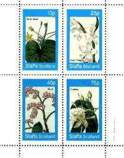 Staffa 1982 Flowers #38 (Buck Bean, Corn Flag, Thrift & Crateva) perf set of 4 values unmounted mint