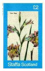 Staffa 1982 Flowers #38 (Corn Flag) imperf deluxe sheet (�2 value) unmounted mint