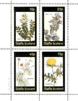 Staffa 1982 Flowers #39 (Veronica, Teucrium, Ipomcea & Argemone) perf set of 4 values unmounted mint
