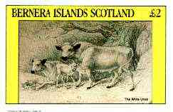 Bernera 1982 Domesticated Animals (Urus) imperf deluxe sheet (�2 value) unmounted mint
