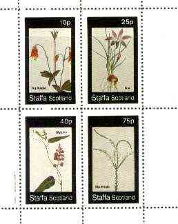 Staffa 1982 Flowers #41 (Aquilegia, Ixia, Glycine & Struthiola) perf set of 4 values unmounted mint