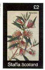 Staffa 1982 Flowers #41 (Metrosideros) imperf deluxe sheet (�2 value) unmounted mint