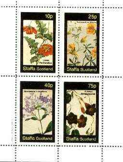 Staffa 1982 Flowers #42 (Loasa, Tropaeolum, Rondeletia & Echites) perf set of 4 values unmounted mint
