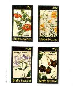 Staffa 1982 Flowers #42 (Loasa, Tropaeolum, Rondeletia & Echites) imperf set of 4 values unmounted mint