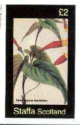 Staffa 1982 Flowers #42 (Siphocempylus) imperf deluxe sheet (�2 value) unmounted mint