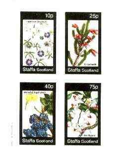 Staffa 1982 Flowers #43 (Tropaolum, Erica, Mahonia & Aerides) imperf set of 4 values unmounted mint