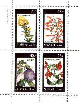 Staffa 1982 Flowers #45 (Oxylobium, Gesnera, Achimenes & Mimulus) perf set of 4 values unmounted mint