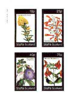 Staffa 1982 Flowers #45 (Oxylobium, Gesnera, Achimenes & Mimulus) imperf set of 4 values unmounted mint