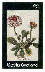 Staffa 1982 Flowers #46 (Bellis) imperf deluxe sheet (�2 value) unmounted mint