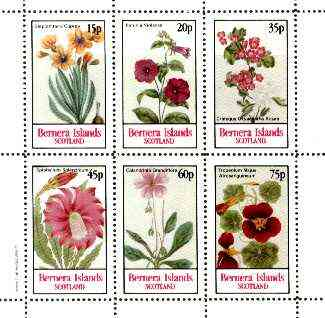 Bernera 1982 Flowers #20 (Petunia, Steptanthera, Crategus etc) perf  set of 6 values unmounted mint