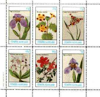Staffa 1982 Flowers #47 (Cattleya, Mimulus, Azalea etc) perf set of 6 values unmounted mint
