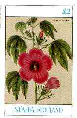 Staffa 1982 Flowers #47 (Hibiscus) imperf deluxe sheet (�2 value) unmounted mint