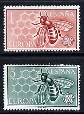 Spain 1962 Europa (Bees) set of 2 unmounted mint SG 1509-10*