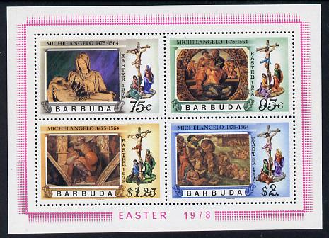 Barbuda 1978 Easter Michelangelo m/sheet unmounted mint, SG MS 394