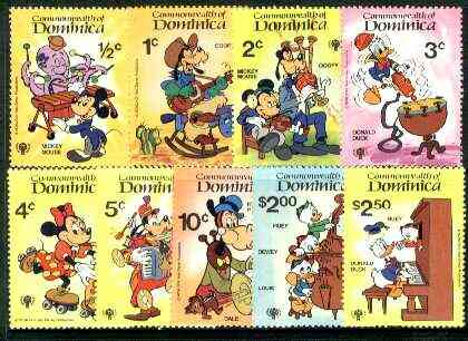 Dominica 1979 Int Year of the Child (Disney Cartoon Characters) set of 9 unmounted mint, SG 691-99