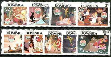 Dominica 1980 Christmas (Scenes from Disney's Peter Pan) set of 9 unmounted mint, SG 722-30*
