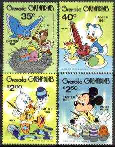 Grenada - Grenadines 1981 Easter (walt Disneys Characters) set of 4 unmounted mint, SG 434-37*