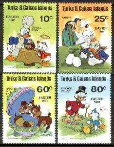 Turks & Caicos Islands 1981 Easter (Walt Disney's Characters) set of 4 unmounted mint, SG 643-46*