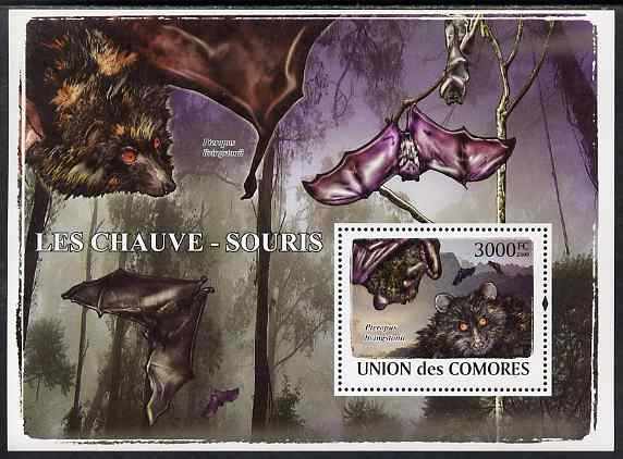 Comoro Islands 2009 Bats perf s/sheet unmounted mint