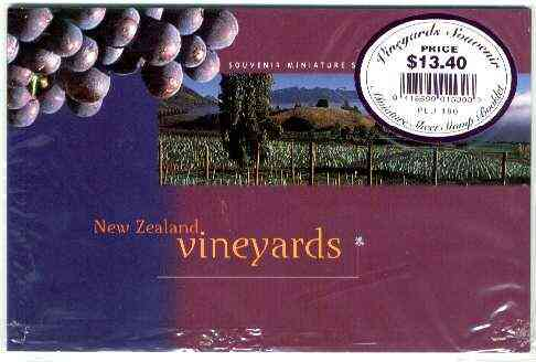 Booklet - New Zealand 1997 Vineyards $13.40 booklet complete and pristine, SB 85