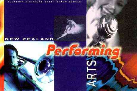 Booklet - New Zealand 1998 $13.40 Performing Arts booklet complete and pristine, SB 90
