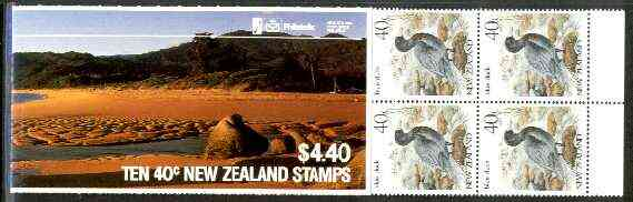 Booklet - New Zealand 1987 $4.40 Totaranui Beach booklet containing 10 x 40c Blue Duck, complete and pristine, SB 44