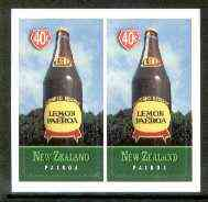 New Zealand 1998 Town Icons 40c Lemon & Water Bottle self-adhesive pair unmounted mint, SG 2196