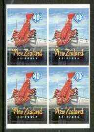 New Zealand 1998 Town Icons 40c Crawfish self-adhesive block of 4, SG 2199