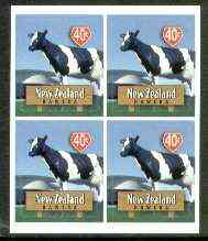 New Zealand 1998 Town Icons 40c Big Cow self-adhesive block of 4 unmounted mint, SG 2205